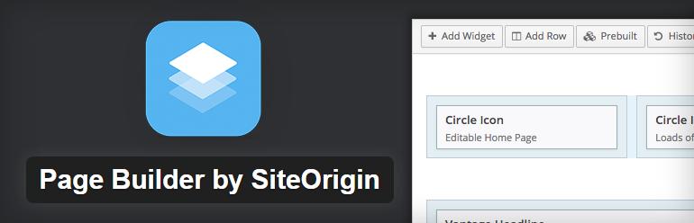 Melhores Plugins grátis para wordpress, page builder by siteorigin